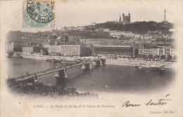 """1 Cpa Lyon"""" Pionnière écrite En 1903 - Lyon"""