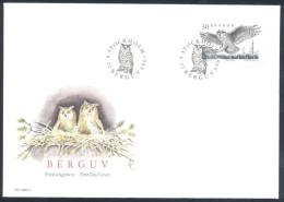Sweden 1989 Cover: Fauna Eagle Adler Eulen Eagle Owl (Bubo Bubo) Stamp Cachet Anc Cancellation - Aquile & Rapaci Diurni