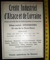 PUBLICITE CREDIT INDUSTRIEL D ALSACE ET LORRAINE STRASBOURG - Collections