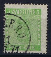 Sweden: 1858, Yv Nr 6, Mi Nr 7 Used - Gebruikt