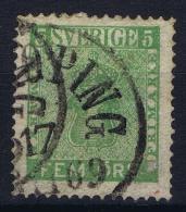 Sweden: 1858, Yv Nr 6, Mi Nr 7 Used - Zweden