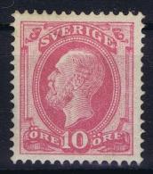 Sweden: 1885, Yv Nr 28 , Michel Nr 28  Perfo 13 MH/* - Zweden