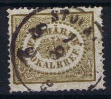 Sweden Local Stamp  1856 Stockholm Yv Nr 2. Signed/ Signé/signiert/ Approvato   Used - Lokale Uitgaven