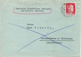 OCCUPATION ALLEMANDE EN LITUANIE LETTRE DE KAUEN 1942 - Occupation 1938-45