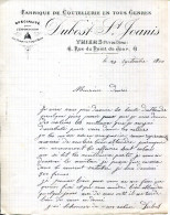 63.PUY DE DÔME.THIERS.FABRIQUE DE COUTELLERIE EN TOUS GENRES.DUBOST-SAINT JOANIS 41 RUE DU POINT DU JOUR. - France