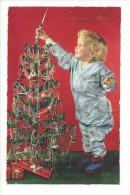 10859  - Joyeux Noël Enfant En Pyjama Et Sapin - Natale