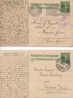 2 Cartes Postales Entier Suisse Guerre 1914 1918 Militaria Cachet Lausanne Brig - War 1914-18