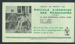 Buvard Illustré. . Liège; Boulevard G. Kurth. Amicale Liégeoise Des Handicapés - Blotters