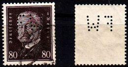 GERMANY REICH [1928] MiNr 0422 ( O/used ) [02] Firmenlochung Perfin - Gebraucht