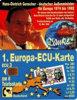 TELEFONKARTE PHONE CARD - Genscher - Deutschland