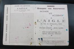 Buvard L'aigle  Assurance  Double - Banque & Assurance
