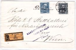 Österreich 1908, Reko- Rückscheinbrief- Rarität - Briefe U. Dokumente