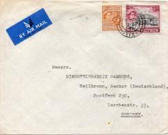 CHYPRE LETTRE POUR L'ALLEMAGNE 1956 - Cyprus (...-1960)