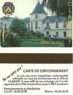 CARTE PUCE TEST DEMO SIM GSM AUTRE CARTE MAGNETIQUE STATIONNEMENT CLAMART - Francia