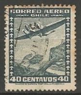 CHILI POSTE AERIENNE N° 33A OBLITERE - Chile
