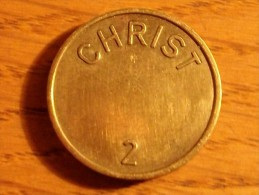 JETON SUISSE CHRIST2 - Jetons En Medailles