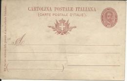 CPC96.1 -INTERO POSTALE - C25 - CARTOLINA EFFIGE OVALE MILL.1896 - NON VIAGGIATA - 1878-00 Umberto I