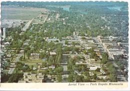 USA, Aerial View, Park Rapids, Minnesota, 1984 used Postcard [14446]