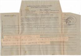 12981# ALGERIE TELEGRAMME Obl PHILIPPEVILLE CONSTANTINE 1917 - Andere