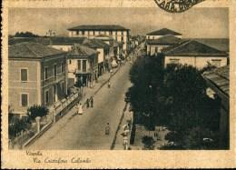 VISERBA (Rimini) - Via Cristoforo Colombo - Animata  - Viaggiata, Anni 30/40 - Rimini