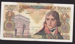 BILLET  DE  10000  FRANCS   NAPOLEON BONAPARTE De 1958 - Série : E 2 - 10 - 1958 - 1871-1952 Anciens Francs Circulés Au XXème