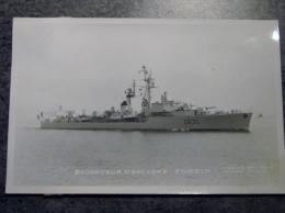 Militaria, Bateau , Navire De Guerre ,  ESCORTEUR D ESCADRE   FORBIN D635   ,  Marius Bar Toulon, Marine National , - Boten