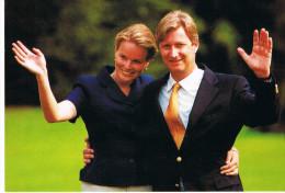 Prince  Philippe De Belgique Et Mathilde D'Udekem D'Acoz (photo Souvenir Des Fiançailles) NELS N°1516 - Familles Royales