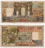 3 Billets 10 NF 1959-1960 Et 1961  Et Un  Billet De 5000 Francs BANQUE DE L´ALGERIE 1950 - Algérie