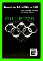 JEUX OLYMPIQUES - BOYCOTT DES J. O. À PÉKIN EN 2008 - REPORTERS SANS FRONTIÈRES - - Jeux Olympiques