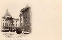 AURILLAC PLACE DE L'HOTEL DE VILLE SOUS LA NEIGE CARTE PRECURSEUR - Aurillac