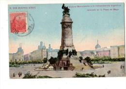 C P A------ARGENTINE------BUENOS AIRES-----futuro Monumento A La Indipendencia Argentina........-----voir 2  Scans - Argentine