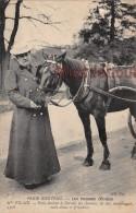 PARIS - Les Femmes COCHER - Melle VILAIN Avec Son Cheval  - 1907 -  2 Scans -The Women TAXI - Transport Urbain En Surface