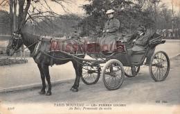 PARIS - Les Femmes COCHER - Au Bois Promenade Du Matin  - 1907 -  2 Scans -The Women TAXI - Transport Urbain En Surface