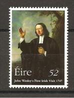 EIRE - JOHN WESLEY  Teologo Protestante  Nuovo**  MNH - Teologi