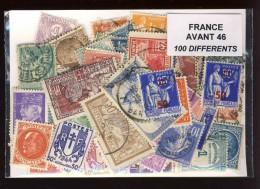 France Avant 1946 100 Timbres Différents Oblitérés - France