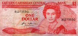 EAST CARIBEAN : 1 $ 1965 (fine+) - Caraïbes Orientales