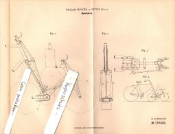 Original Patent - William Slinger In Settle , England , 1902 , Motor-bike , Bicycle , Motorcycle , Moto !!! - Motor Bikes