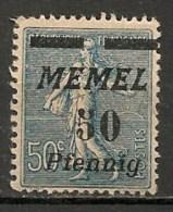 Timbres - Allemagne - Etranger - Memel - 50 Pf. - - Memel (Klaïpeda)