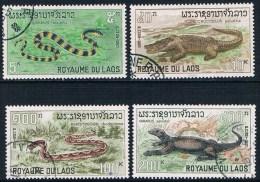 Laos - Reptiles 167/170 Oblit. - Reptiles & Amphibians