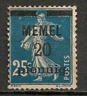 Timbres - Allemagne - Etranger - Memel - 20 Pf. - - Memel (Klaïpeda)