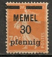Timbres - Allemagne - Etranger - Memel - 30 Pf. - - Memel (Klaïpeda)