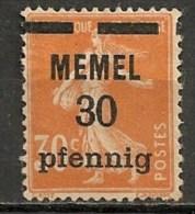 Timbres - Allemagne - Etranger - Memel - 30 Pf. -
