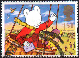 """GREAT BRITAIN 1994 Greetings Stamps. """"Messages"""": 1st NVI Rupert Bear - Usati"""