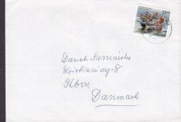 Iceland REYKJAVIK 1990 Cover Brief To Denmark Bird Vogel Oiseau 21.00 Kr Duck Ente Embossed Name On Bacside (3 Scans) - 1944-... Republique