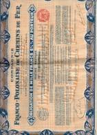 Compagnie Franco Polonaise De Chemin De Fer. Slésie Baltique. Obligation De 1000 Francs - Chemin De Fer & Tramway