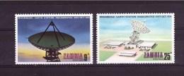 ZAMBIA  1974 Telecommunication  Odd Value  Yvert Cat. N° 130-132  Mint Ligthly Hinged - Zambia (1965-...)