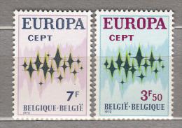 EUROPA BELGIUM 1972 Mi 1678/1679 Yv 1623/1624 MNH (**) #18062 - 1972