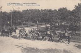 Kamp Van Elsenborn   Aankomst Der Artillerie Paarden , Koetsen Afgestempeld Door Legerposterij          Scan 9534 - Elsenborn (camp)