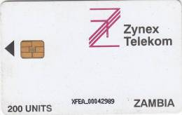 ZAMBIA - Zynex Telecom First Issue 200 Units, CN : XFEA, Used