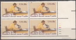 United States     Scott No  1925      Mnh      Year 1981      Plate No. Block - Etats-Unis